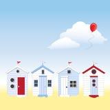 De hutten van het strand met exemplaarruimte vector illustratie