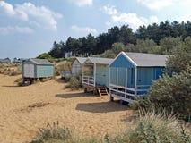 De hutten van het strand in Oude Hunstanton royalty-vrije stock foto's