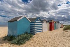 De hutten van het Strand van Southwold Stock Afbeelding