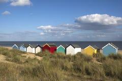 De Hutten van het strand, Southwold, Suffolk, Engeland Royalty-vrije Stock Afbeeldingen