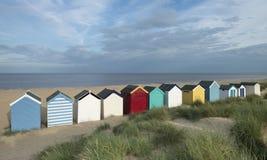 De Hutten van het strand in Southwold, Suffolk, het UK Royalty-vrije Stock Foto