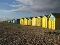 De Hutten van het Strand van Sussex Stock Foto's