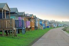 De hutten van het strandboulevardstrand Stock Foto