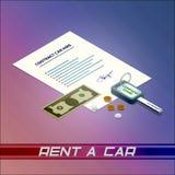 De huur van de contractauto Royalty-vrije Stock Afbeelding