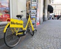 De Huur van de fiets Royalty-vrije Stock Fotografie