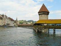De huvudsakliga dragningarna av Lucerne, Schweiz Royaltyfri Bild
