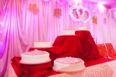 De Huwelijkscake Stock Foto's
