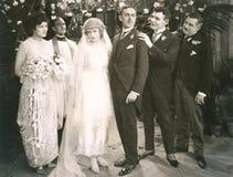 De huwelijkspartij stock foto's