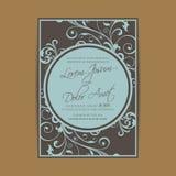 De huwelijksuitnodiging en bewaart de datumkaarten Stock Afbeelding