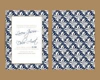 De huwelijksuitnodiging en bewaart de datumkaarten Stock Fotografie