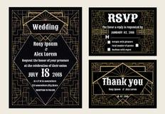 De huwelijksuitnodiging, sparen de datum, RSVP-kaart, dankt u kaardt, T Stock Fotografie