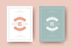 De huwelijksuitnodigingen bewaren de datumkaarten ontwerpen vectorillustratie stock foto's