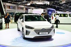 De Hybride auto van Hyundai IONIQ bij de Internationale Motor Expo van Thailand Stock Afbeelding