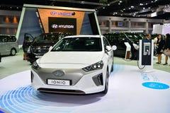 De Hybride auto van Hyundai IONIQ bij de Internationale Motor Expo van Thailand Royalty-vrije Stock Foto's