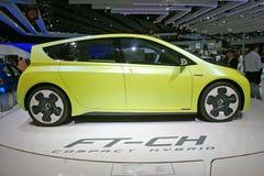De hybride auto van Toyota voet-CH Stock Foto