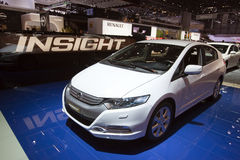 De Hybride van het Inzicht van Honda - de Show van de Motor van Genève van 2009 Royalty-vrije Stock Afbeelding