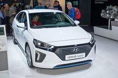 De hybride van Hyundai Ioniq Stock Afbeeldingen