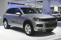 De Hybride van Volkswagen Touareg Stock Foto