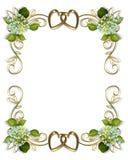 De Hydrangea hortensia van de Uitnodiging van het huwelijk Royalty-vrije Stock Fotografie