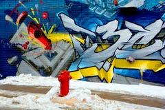 De hydrant van Montreal van de straatkunst Royalty-vrije Stock Afbeelding