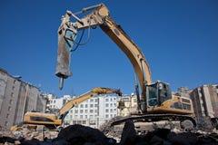 De hydraulische hamer van de vernieling Stock Foto's