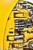 De hydraulische zuigers detailleren zware bouwvrachtwagen Stock Afbeelding