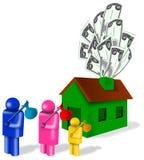 De hypotheekneerstorting van het huis Stock Foto's