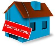 De hypotheekteken van het huis en van het huis Stock Afbeeldingen