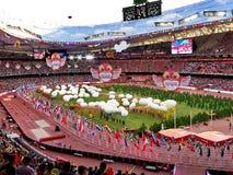 De 2015 IAAF-het Kampioenschaps openingsceremonies van de Wereldatletiek bij nationaal stadion in Peking Stock Afbeelding