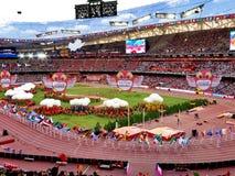 De 2015 IAAF-het Kampioenschaps openingsceremonies van de Wereldatletiek bij nationaal stadion in Peking Royalty-vrije Stock Foto