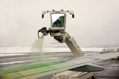 De-icing of aircraft Royalty Free Stock Photos