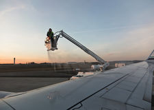 De-Icing an Airplane Royalty Free Stock Images