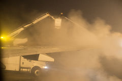 De-icing before taking off Stock Photos