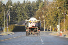 De-Icing Truck Applying Spray Royalty Free Stock Photography