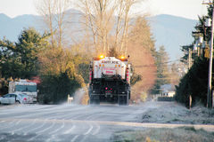 De-Icing Truck Applying Spray Royalty Free Stock Photo