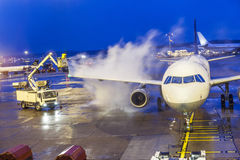 De-icing of a wing Royalty Free Stock Photography
