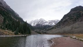 De iconic rödbruna klockorna i Aspen Colorado Arkivfoto