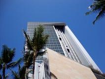 De iconische Oriëntatiepunt Eerste Hawaiiaanse Bouw in Honolulu Van de binnenstad stock foto's