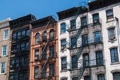 De iconische voorgevels van New York ` s Royalty-vrije Stock Fotografie