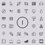 de icono del esquema de la muestra Sistema detallado de la línea minimalistic iconos Diseño gráfico superior Uno de los iconos de ilustración del vector