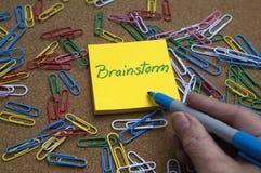 De ideeën van de brainstorming Royalty-vrije Stock Foto