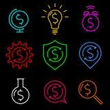 De ideeën van het dollarteken Stock Foto's