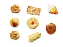 De ideeënreeks van het bakkerijvoedsel royalty-vrije stock fotografie