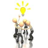 De ideeën van de brainstorming Stock Foto