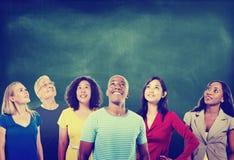 De Ideeënverbeelding Team Concept van diversiteits Toevallige Mensen Royalty-vrije Stock Foto