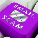 De Identiteit van Phishingsscam E-mail het Waakzame 3d Teruggeven Stock Afbeeldingen