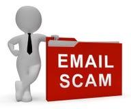 De Identiteit van Phishingsscam E-mail het Waakzame 3d Teruggeven Royalty-vrije Stock Afbeeldingen