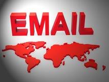 De Identiteit van Phishingsscam E-mail het Waakzame 3d Teruggeven royalty-vrije illustratie