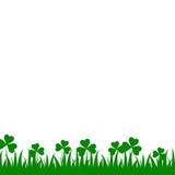 De Ierse achtergrond van klaverbladeren voor Gelukkige St Patrick ` s Dag Eps 10 Royalty-vrije Stock Afbeelding