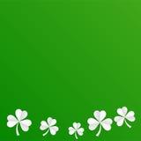 De Ierse achtergrond van klaverbladeren voor Gelukkige St Patrick ` s Dag Eps 10 Het concept van de ecologie Stock Foto
